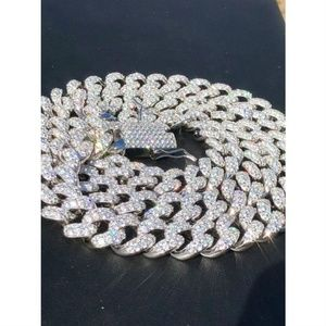 Harlembling Mens Hip Hop Miami Cuban 15mm Chain